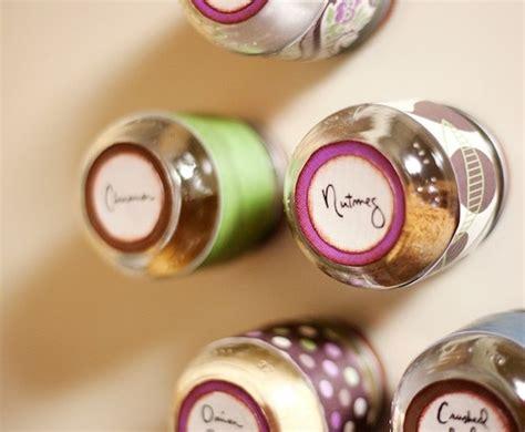 diy baby food jar spice rack faux glass jar lanterns mod podge rocks