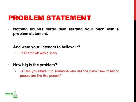 Startup Weekend Bahrain Ppt Problem Statement Template Powerpoint