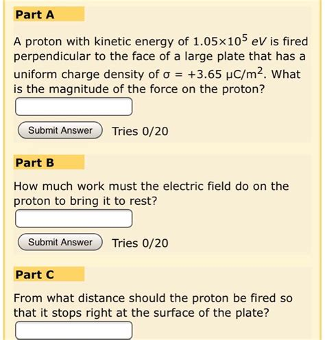 Rest Energy Of A Proton by Solved A Proton With Kinetic Energy Of 1 05x10 5 Ev Is Fi