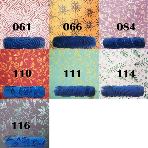 texture pattern paint roller 7 embossed paint roller sleeve wall texture stencil
