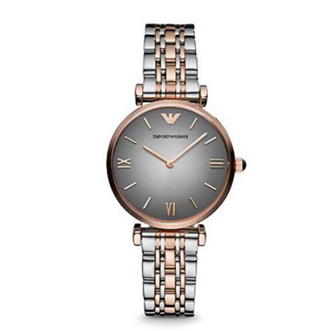 armani ar1725 grey womens gold wrist