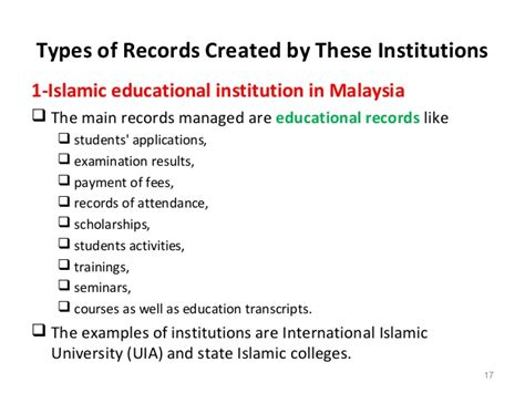 Types Of Records Types Of Islamic Institutions And Records