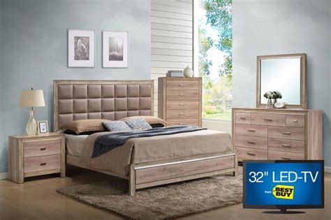 bedroom set with tv sawyer king bedroom set with 32 quot led tv