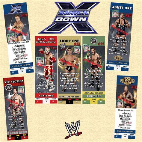 printable birthday cards wrestling wwe wrestling birthday invitations 10 ea w envelopes