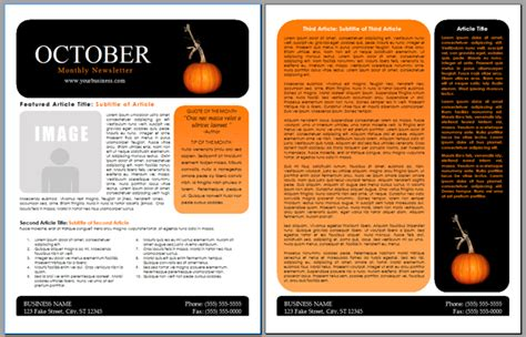 october newsletter template index of images