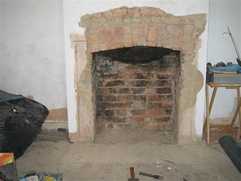 what to do with old fireplace brick fireplace squaring the arch diynot forums