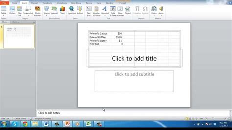 powerpoint tutorial worksheet how to link excel worksheet to powerpoint 2010 youtube