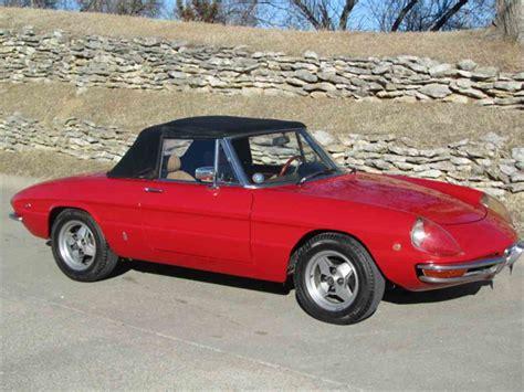 1969 Alfa Romeo Spider For Sale by 1969 Alfa Romeo Duetto For Sale Classiccars Cc 974049