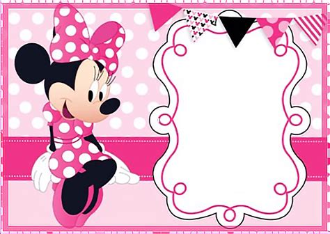 minnie mouse birthday invitation card template free printable minnie mouse invitation templates part 1
