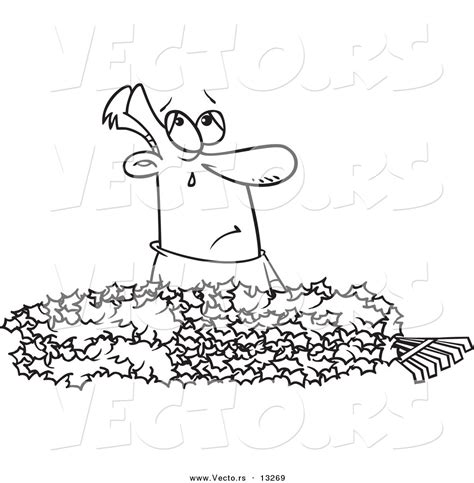 leaf pile coloring page free coloring pages of raking leaves
