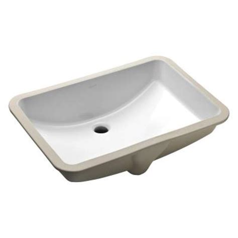 home depot kohler bathroom sink kohler ladena undermount bathroom sink in white