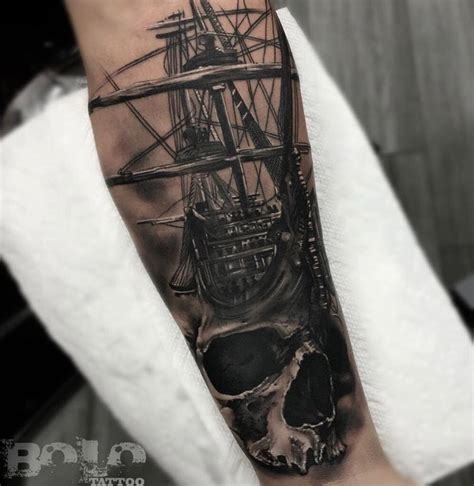 sailing ship tattoo skull sailing ship best design ideas