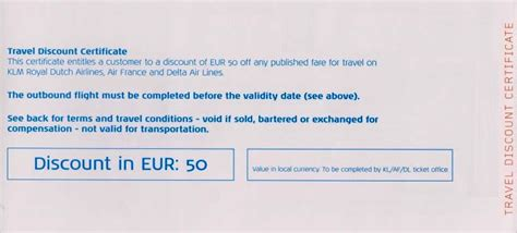 Discount Voucher Klm | one of the best parts about klm travel vouchers the hold