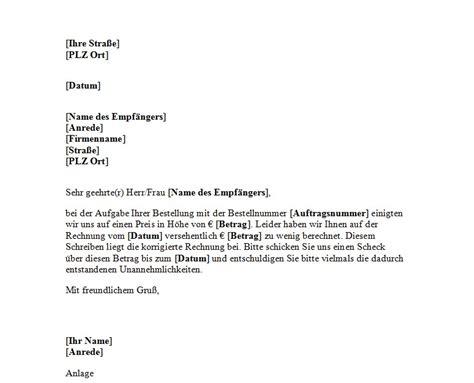 Anschreiben Muster Rechnung Anschreiben F 252 R Die Korrektur Einer Rechnung Office Lernen