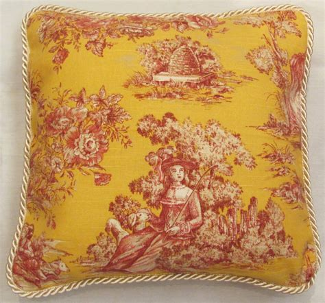 Toile Pillows by Country Pillows Country Toile Pillows Decorator Pillows Fleur De Lis Pillows T
