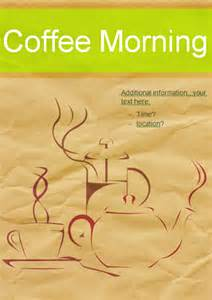 editable coffee morning poster free early years