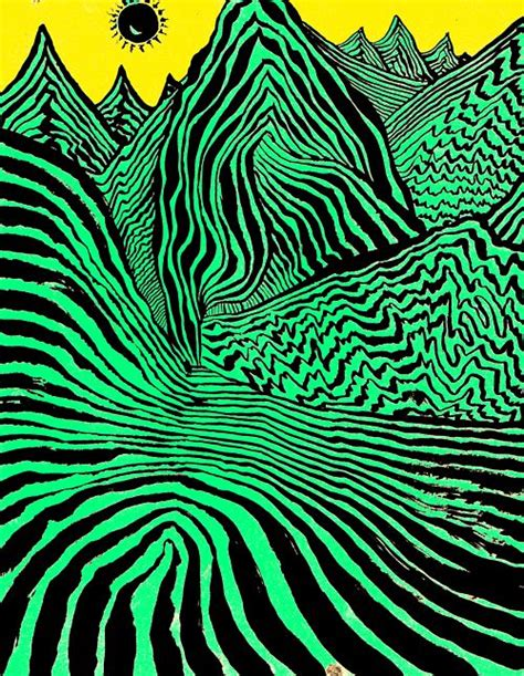 woah is the color of your energy trippy mountains acid land ॐ trippy green