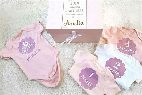 Handmade Personalised Baby Gifts - personalised baby milestone gift set conscious