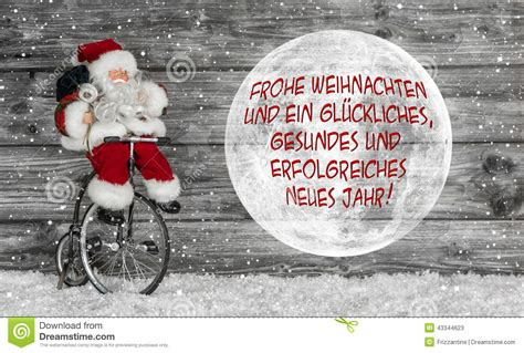 merry christmas card  red  white  german text   san stock image image