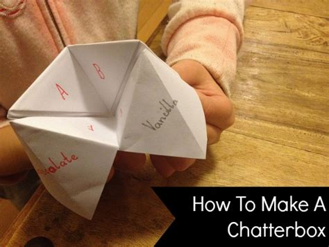 how to make a chatterbox planning with kids