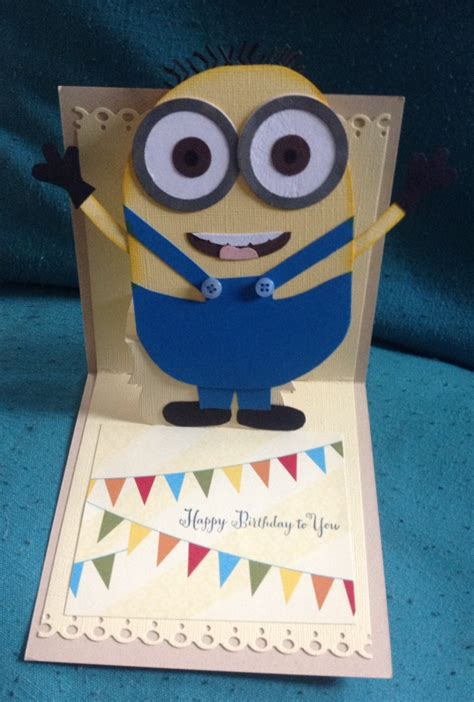minion birthday card template invitations ideas