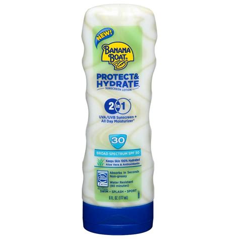 banana boat sunscreen and moisturizer banana boat protect and hydrate sunscreen lotion