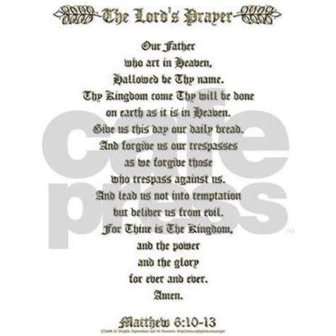 large prayer lord s prayer white large framed print by a1gex