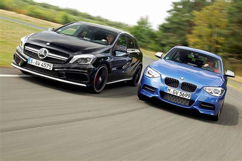 Bmw 1er Oder A Klasse by Mercedes A 45 Amg Trifft Bmw M 135i Bilder Autobild De