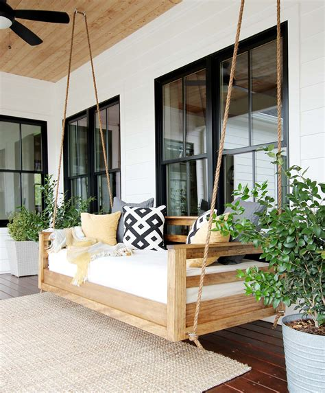 What Is A Swing Bed by How To Build A Porch Swing Bed Plank And Pillow