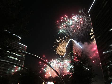 uptown houston holiday lighting terrific fireworks choreographed to orchestral music at