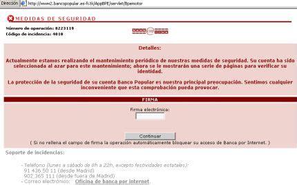 www banco popular es nuevo m 233 todo para robar datos bancarios simulando ser el