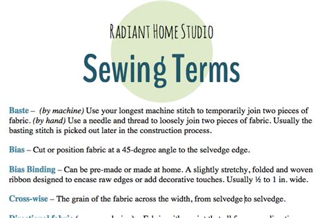 layout definition sewing sewing terms radiant home studio