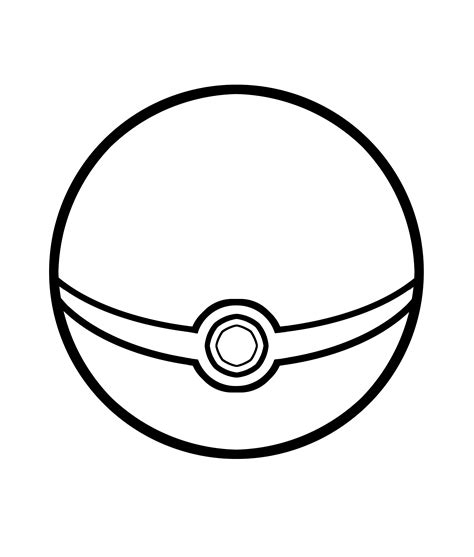 pokemon ball pokeball coloring page coloring pages