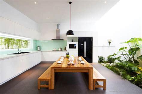 desain meja panjang 10 desain ruang makan terbuka rumah minimalis terbaru
