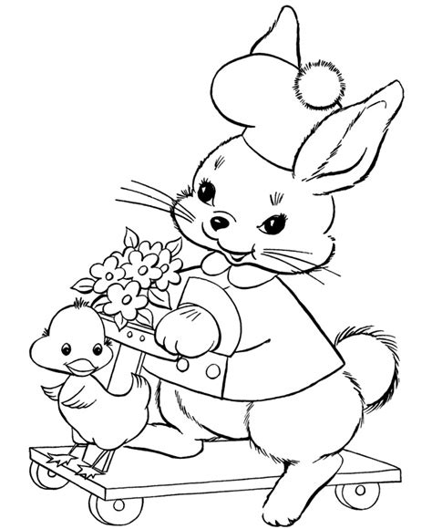 little bunny coloring pages rabbit template animal templates free premium templates