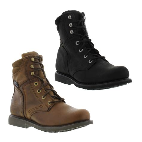 mens leather motorcycle boots for sale harley davidson darnel mens leather lace up zip motorcycle biker boots size 7 12 ebay