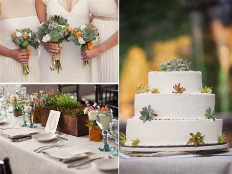 Wedding Bouquets Using Succulents by Eco Friendly Succulent Plants Incorporated In Bridal
