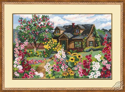 Flower Garden Kit Cross Stitch Kits Riolis Cross Stitch Kits Cities