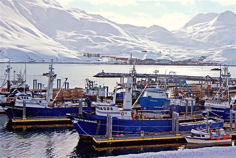 deadliest catch unalaska fishing boats in dutch harbor unalaska aleutian islands