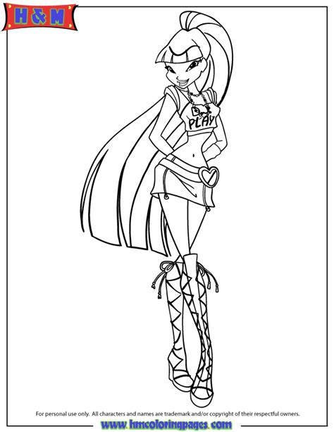 winx fairy of magic musa coloring page h m coloring pages