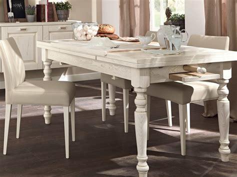 tavoli lube tavolo allungabile da cucina in legno vecchia toscana