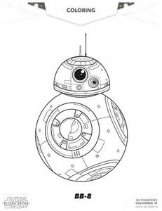 star wars force awakens bb 8 coloring starwars coloriage guerre