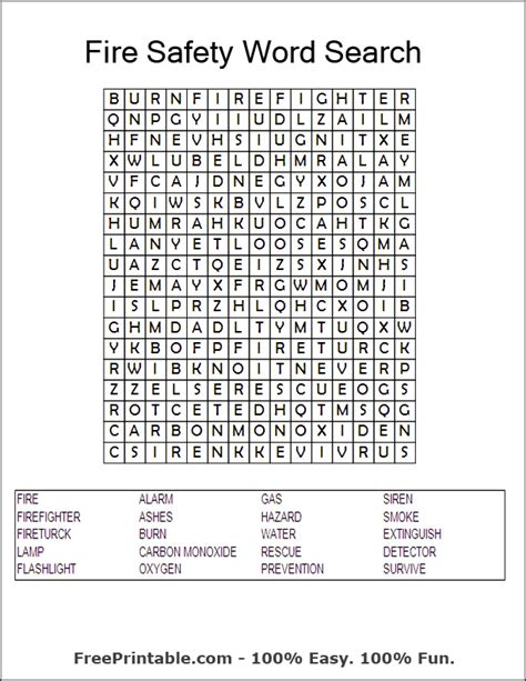 Osha Search Pin Workplace Safety Crossword Puzzle Pdf On