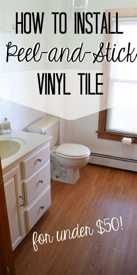 install peel  stick vinyl floor planks   bathroom