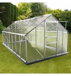 serre de jardin xl en aluminium et polycarbonate