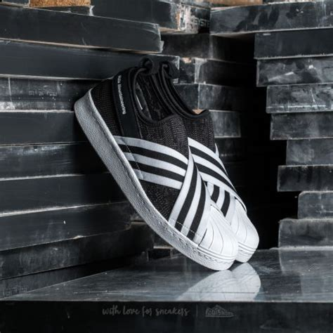 Adidas Superstar Slipon Black Onyx adidas white mountaineering superstar slip on primeknit black footwear white footwear