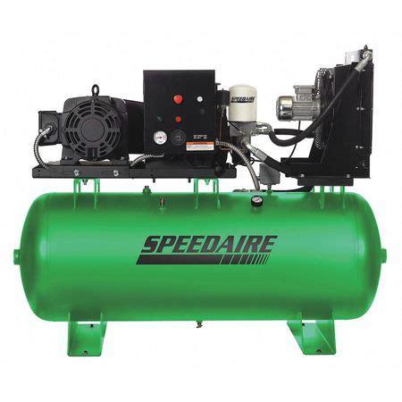speedaire rotary screw air compressor hp  gal
