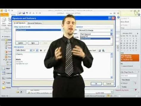 microsoft outlook 2010 tutorial create an e mail messages how to create email signatures in microsoft outlook 2010