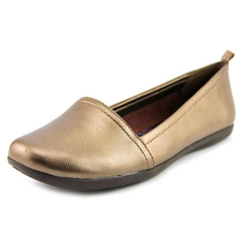 leather flats womens shoes baretraps wisk leather brown flats flats