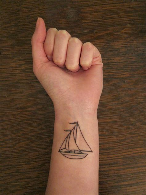 sail boat tattoo sailboat pinpoint